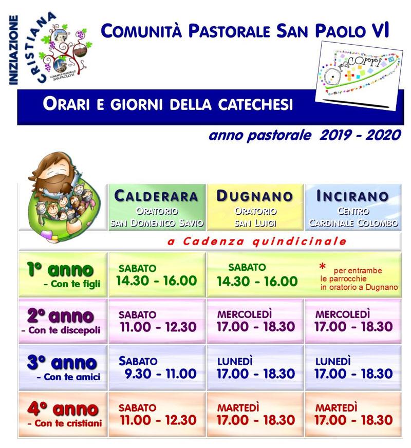 Calendario Liturgico Romano 2020.Anno Pastorale 2019 2020 Calendario Attivita Delle Realta